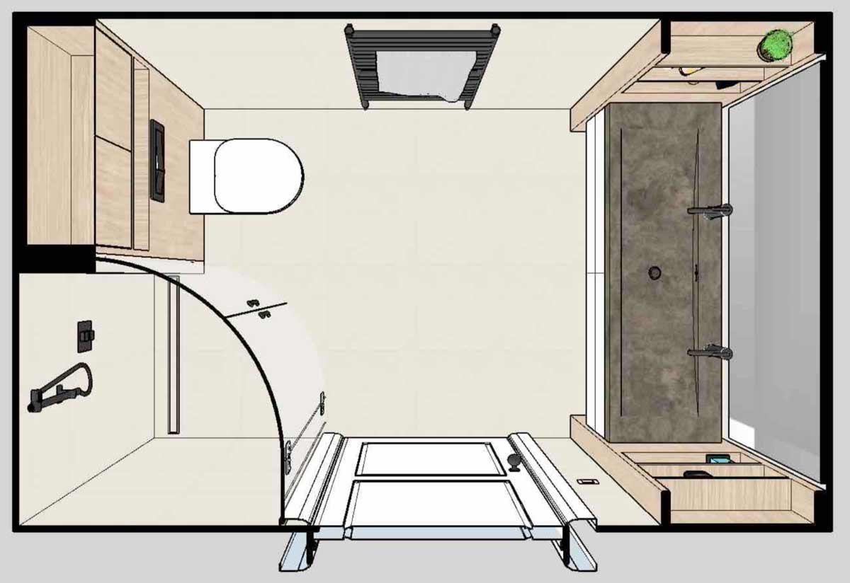 bathroom custom design floorplan