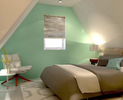 bedroom attic design