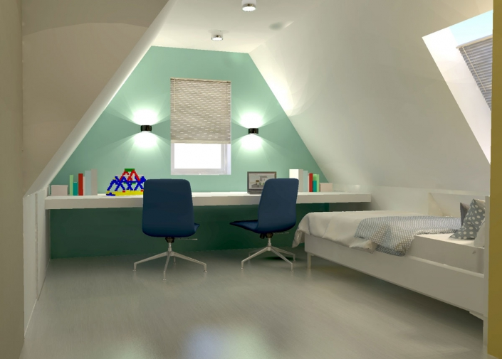 bedroom boy attic design